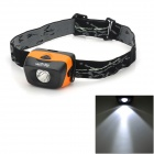 WOTA E50 Lightweight 3W LED 40lm 3-Mode Outdoor Sports Headlamp - Black + Orange (3 x AAA)