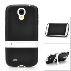 Protective TPU + Plastic Back Case w/ Stand for Samsung Galaxy S4 i9500 - Black + White
