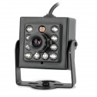 "Mini HD 1/3"" CCD 700TVL NTSC Surveillance Camera w/ 10-IR LED - Black (DC 12V)"