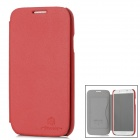 NILLKIN Stylish Protective PU Leather Case w/ Screen Film for Samsung i9500 - Red
