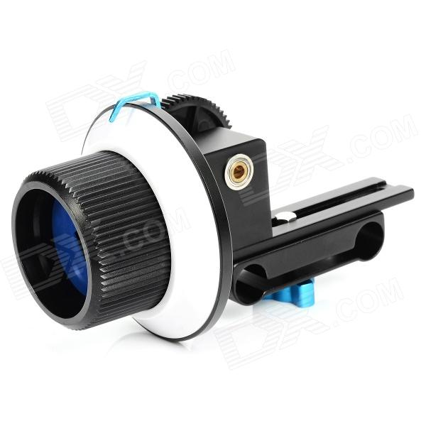 Commlite CS-F1 Follow Focus Ring for SLR Camera - Black + White + Blue professional 45cm follow focus assist handle whip for slr camera black