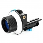 Commlite CS-F1 Follow Focus Ring for SLR Camera - Black + White + Blue