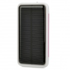 1800mAh Compact Solar Powered Portable Power Bank for iPhone 4S / Cellphone / MP4 + More - Rosy