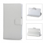 Protective PU Leather Flip-Open Case for Samsung L36h - White