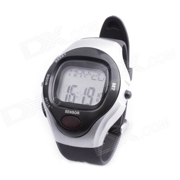 SB-003 Smart Electronic Heart Rate Calories Counter Sports Watch - Black + Silver (1 x C2032)
