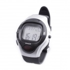 Smart Electronic Heart Rate Calories Counter Sports Watch - Black + Silver (1 x C2032)