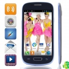 "S9920 MTK6577 Dual-Core Android 4.1.1 WCDMA Bar Phone w/ 4.0"" Screen , Wi-Fi and GPS - Black + Blue"