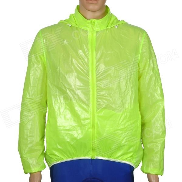CoolChange 49001 Water Repellent UV Protection Quick Drying Cycling Jacket - Fluorescent Green (XL) arsuxeo ar608s quick drying cycling polyester jersey for men fluorescent green black l