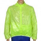 CoolChange 49001 Water Repellent UV Protection Quick Drying Cycling Jacket - Fluorescent Green (XL)