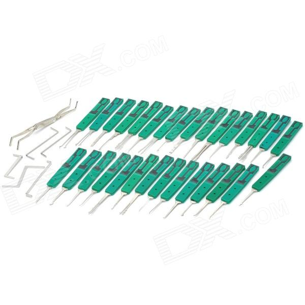 KL-307 Complete Lock Master Pickset Tooling System - Green + Silver (30 PCS)  full list 42crmo 2v down tooling for wc67k hydraulic press brake