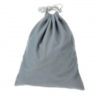Cotton Velvet Drawing Strap Design Gadgets Storage Bag Pouch - Grey