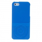 Protective Plastic Back Case w/ Megaphone for Iphone 5 - Blue