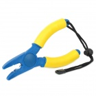 Curve Jaws Ceramic Floating Fishing Pliers w/ Strap - Blue + Yellow