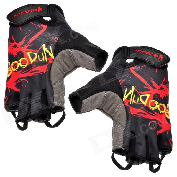 Fashion Outdoor Sports Half-Finger Cycling Gloves - Black + Red + Grey (Size L / Pair) ночная сорочка 2 штуки quelle arizona 464118