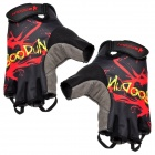 Fashion Outdoor Sports Half-Finger Cycling Gloves - Black + Red + Grey (Size L / Pair)