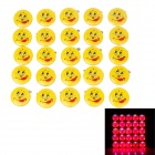 Lovely Grimace Pattern Red and Blue Light LED Badges - Yellow + Red ( 3 x LR41 / 25 PCS)