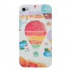 Colorful Hot Air Balloon Style Protective Plastic Back Case for Iphone 4 / 4S - Multicolor