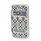 Protective PU Leather + PVC Flip-Open Case for Iphone 4 / 4S - White + Black