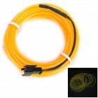 0.5W 5V 20LM EL USB-powered Cold Light LED Cable - Black + Yellow (3 Meters)