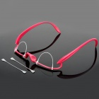 Make-up Plastic Double Eyelid Training Glasses - Deep Pink