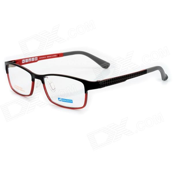 купить MINGDUN 2318 Fashion Titanium Tungsten Myopia Frame PC Lens Eyeglasses - Black + Red недорого