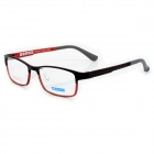 MINGDUN 2318 Fashion Titanium Tungsten Myopia Frame PC Lens Eyeglasses - Black + Red