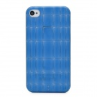 Bamboo Style Protective Plastic Back Case for Iphone 4S - Blue