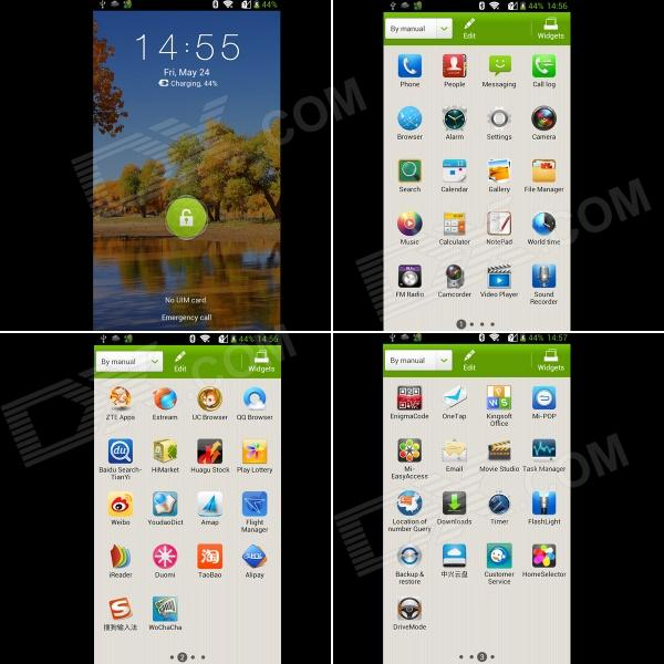 ZTE GRAND MEMO N5 Quad-Core 1.5GHz Android 4.1 Bar Phone w ...