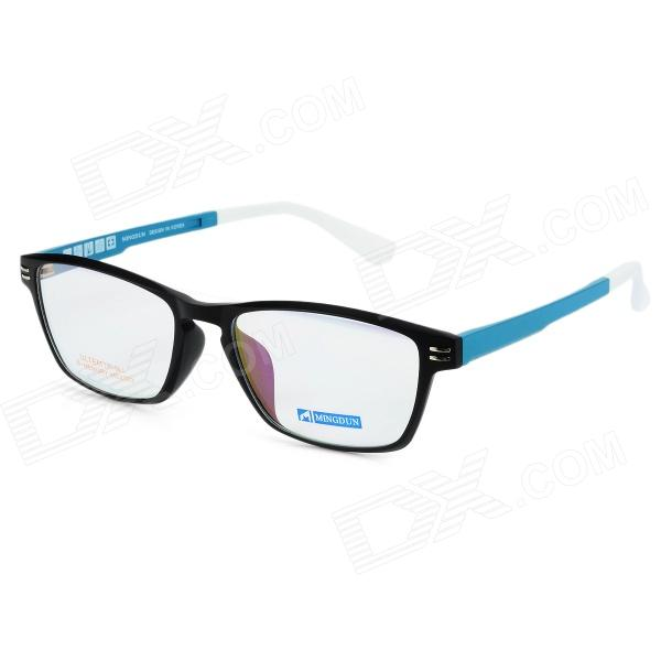 купить MINGDUN MD2323 C2 Fashion Titanium Tungsten Myopia Frame PC Lens Eyeglasses - Black + Blue недорого