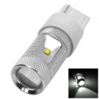 HJ0505 T20 6W 600lm 6500K 6-CREE XBD R3 White Light Car Headlamp - Silver + White (10~30V)
