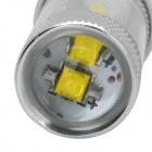 HJ0505 T20 6W 600lm 6500K White Light Car Headlamp w/ 6-CREE XBD R3 - Silver + White (10~30V)