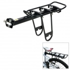 Bicycle Cycling Quick Release Aluminum Alloy Rear Rack - Black