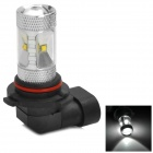 HJ0504 9006 6W 600lm 6500K White Light Car Headlamp w/ 6-CREE XBD R3 - Silver (10~30V)