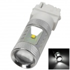 HJ0505 3156 6W 600lm 6500K 6-Cree XBD-R3 LED White Light Car Headlamp - Silver (10~30V)