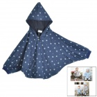 Baby's Cute Floral Pattern Two Way Pur Cotton Spring / Fall Cloak w/ Hood - Deep Blue