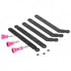 6061 T6 Aluminum Extension Arms + Screws Set for GoPro HD Hero 2 / 3 / 3+ - Black + Deep Pink
