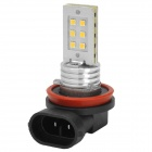 J-19 H8 12W 360lm 6500K LED 2323 SMD White Car Light Headlamp - Silver + Black (10~30V)