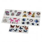 5-in-1YM-T076-T080 Fashion Water-resistant Tattoo Paper Stickers Set - Multicolored (1 x 5 PCS)