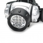 12-LED 38lm 4-Mode White Headlamp - Silver + Black (3 x AAA)