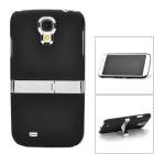 Protective Plastic Back Case w/ Stand for Samsung Galaxy S4 i9500 - Black + Silver