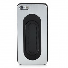 Protective Aluminum Alloy Back Case w/ Stand for Iphone 5 - Silver + Black