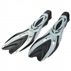 Diving / Swimming Gear Fins Flippers - Black + Grey (Pair / Size-L)