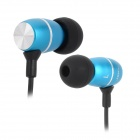 JBM Stylish In-Ear Earphone for MP3 / MP4 / Cell Phone - Blue + Black