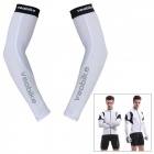 VEOBIKE V-03 Highly-Flexible Outdoor Cycling Oversleeves - White (Pair / Size-L)