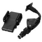 Car Cigarette Powered Charger w/ Bracket Holder for Iphone 4 / 4S / 5 / Samsung / Xiaomi - Black
