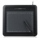 RB86 Ultradünne DC 5V Compact USB 2.0-powered Digitale Drawing Tablet - Schwarz (1 x AAA)