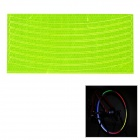 Safe Cycling Reflective PVC Sticker for Bike Bicycle Wheel - Yellow