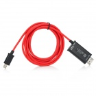 MHL to HDMI Adapter Cable for Samsung Galaxy S3 i9300 / S4 i9500 / Note II N7100 - Red + Black