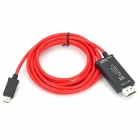 MHL to HDMI Adapter Cable for Samsung S3 + More - Red + Black (195cm)