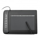 UGEE-M1000L Ultra-thin DC 5V Compact USB 2.0-powered Digital Drawing Tablet - Black (1 x AAA)